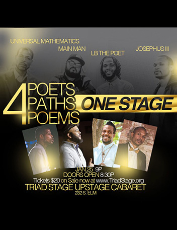 4: An evening of Spoken Word featuring Universal Mathematics, Main Man, LB the Poet and Josephus III