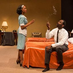 Triad Stage - Pictured: Lakisha May and Cedric Mays; Photo by: VanderVeen Photographers