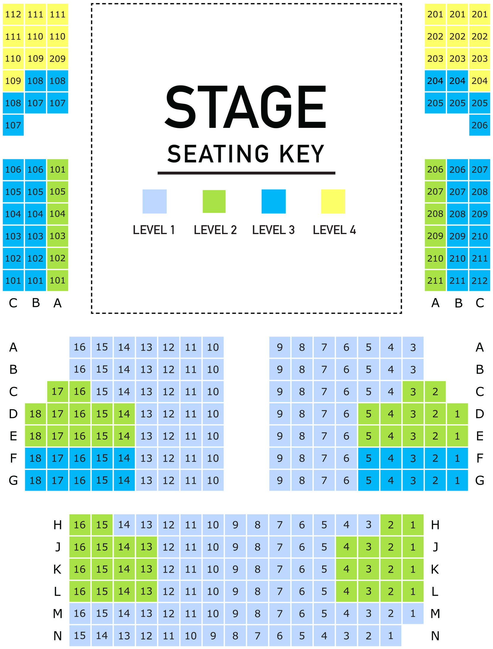 The Pyrle Theater Seating Chart
